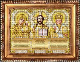 """Схема для вышивки бисером """"Триптих с молитвами в золоте"""" И-5092"""