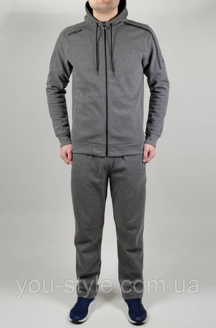 Мужской спортивный костюм Adidas 4605 Тёмно-серый - Интернет магазин