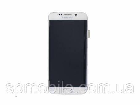 Дисплей Samsung G925 Galaxy S6 Edge з сенсором Білий White оригінал , GH97-17162B