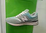 Женские кроссовки new balance 997,5 мятно- серые, фото 2