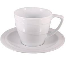 Фарфоровая чашка с блюдцем BergHOFF 0,265 л (1690100)