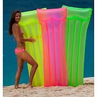 """Надувной пляжный матрас """"НЕОН"""" 183х76см, Intex 59717"""