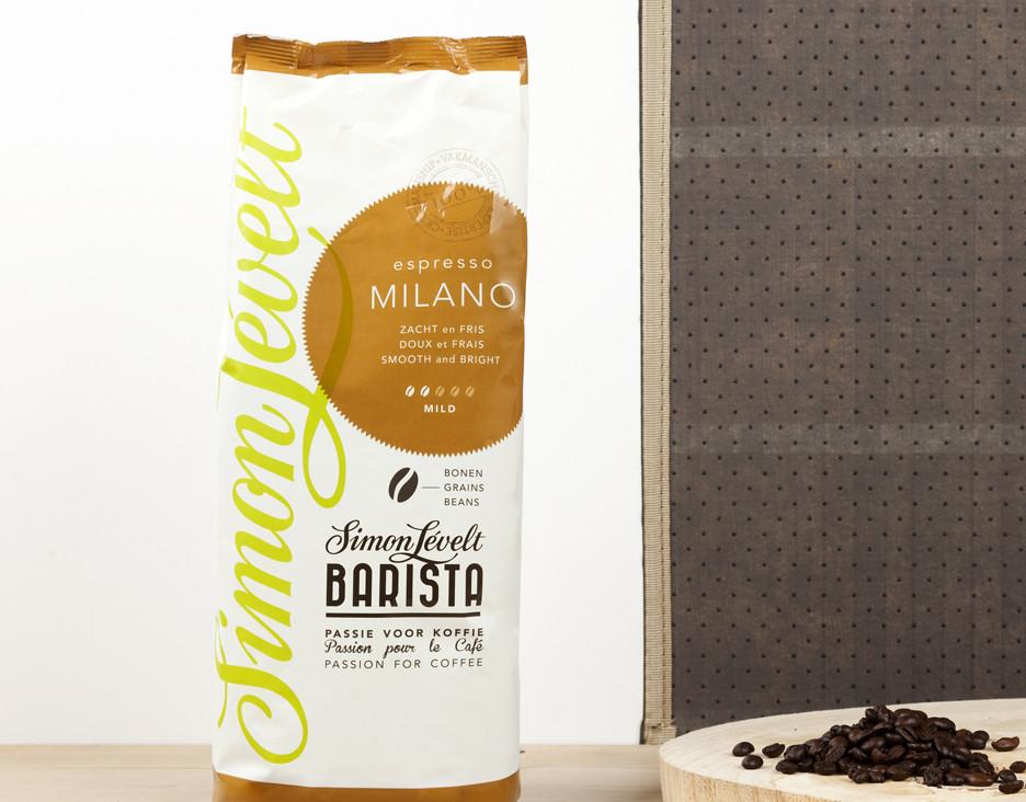 Кофе в зернах  Милан мягкой степени обжарки  Simon Lévelt  1 кг - Интернет бутик  Organic Paradise  в Одессе