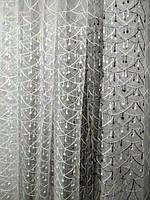 Тюль с вышивкой по всему полю. Оптом. Высота 2.8 м. , фото 1