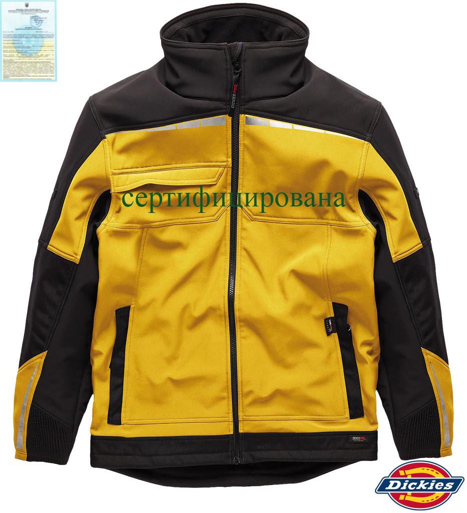Куртка со светоотражающими вставками рабочая желтая Dickies США DK-PRO-J YB