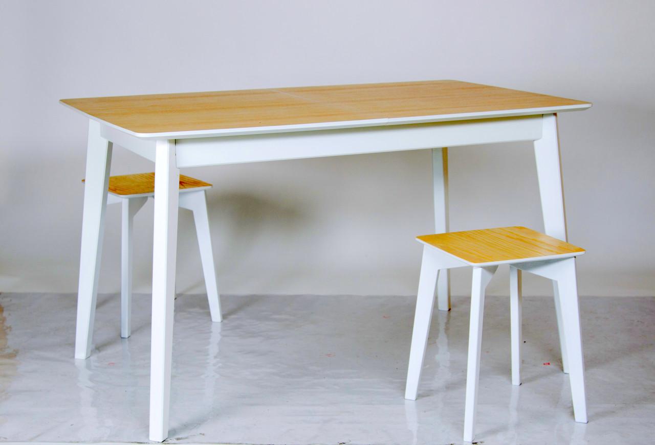 """Стол раскладной на кухню из массива ясеня Сингл Микс мебель, коллекция мебели """"Лофт"""""""