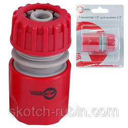 "Конектор 1/2"" для шланга 1/2"" INTERTOOL GE-1016"