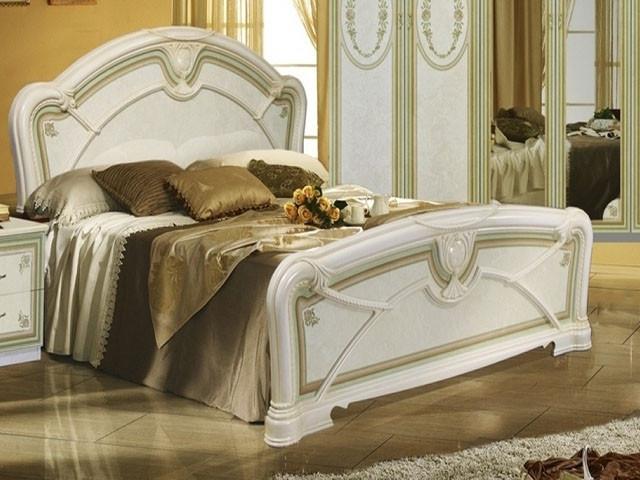 Ліжко з ДСП/МДФ в спальню беж Прімула 1,6х2,0 з каркасом Миро-Марк