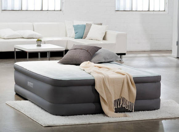 Надувная кровать Intex 64414 (203х152х46) - электронасос., фото 2