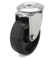 Колеса из фенольной смолы диаметр 100 мм с поворотным кронштейном с отверстием. Серия 70