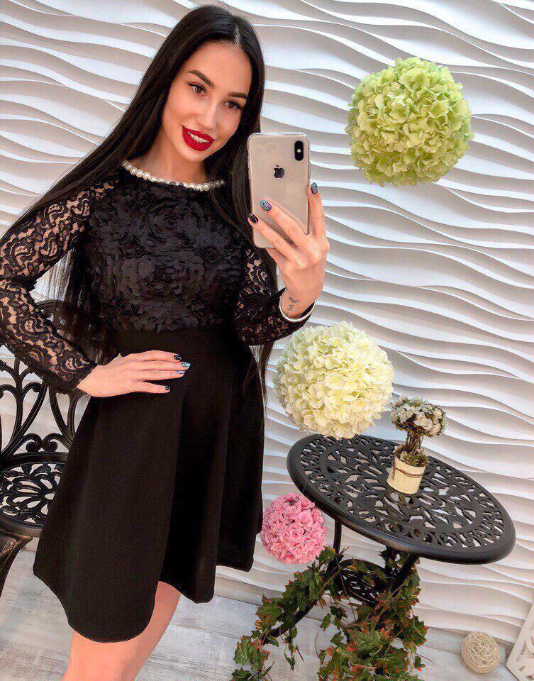 2dd374eacec0 Красивое черное платье., цена 490 грн., купить в Харькове — Prom.ua ...