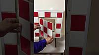 Люк невидимка ревизионный сантехнический НАЖИМНОЙ тип «ФРН 20*20» под плитку, кафель, мозаику,