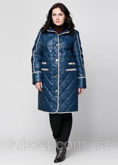 Женская весенняя стеганная куртка 50-62р волна 52
