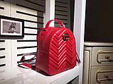 Рюкзак Гучи Marmont натуральная кожа цвет красный, фото 2