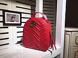 Рюкзак Гучи Marmont натуральная кожа цвет красный, фото 3