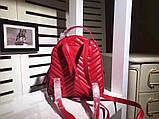 Рюкзак Гучи Marmont натуральная кожа цвет красный, фото 4