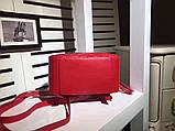 Рюкзак Гучи Marmont натуральная кожа цвет красный, фото 5