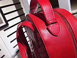 Рюкзак Гучи Marmont натуральная кожа цвет красный, фото 7