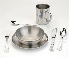 Детский набор BergHOFF столовые приборы + тарелки и кружка (1108483)