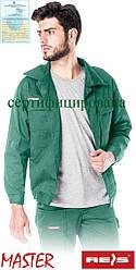 Куртка Master рабочая мужская зеленая REIS Польша (спецодежда униформа роба) BM Z