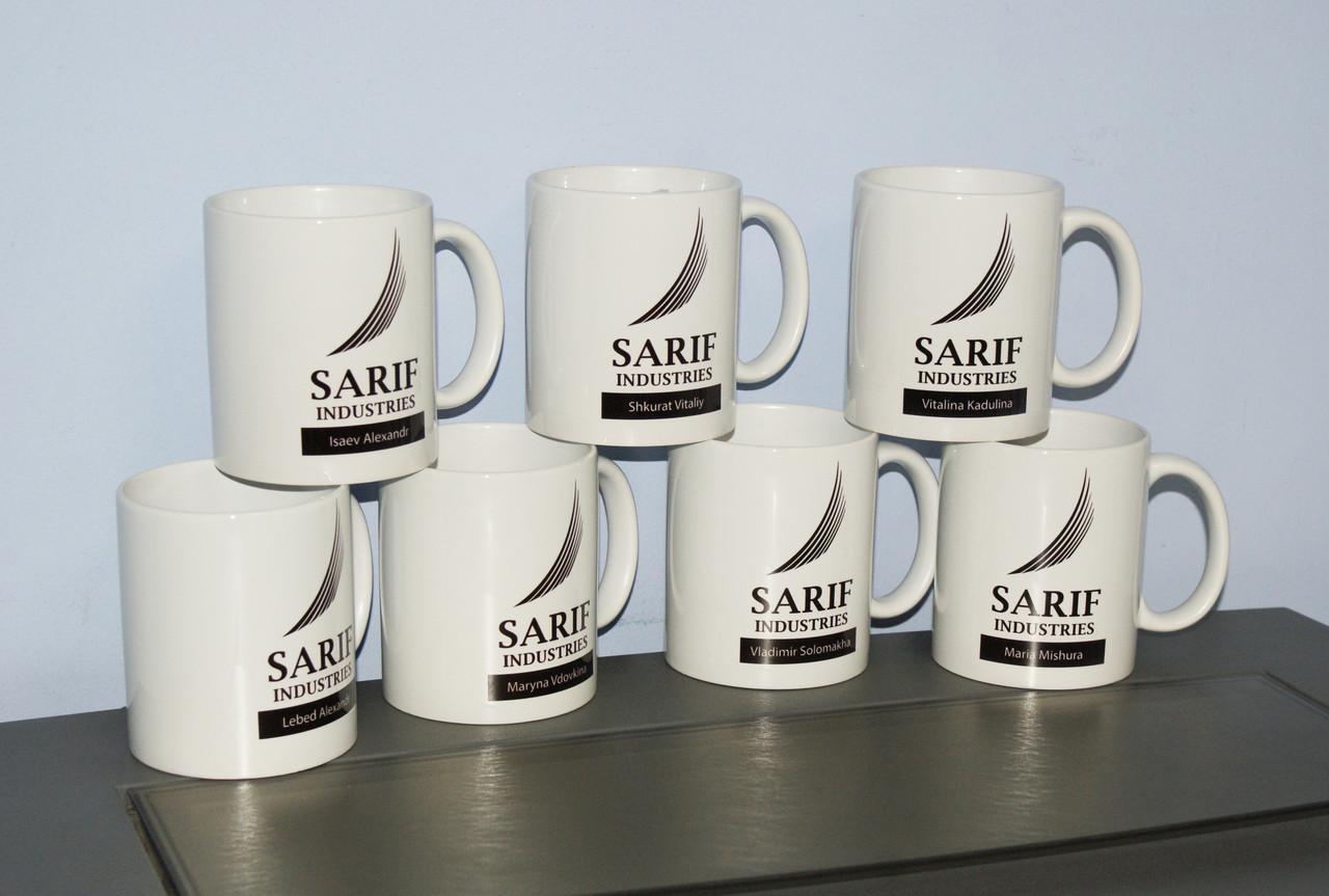 Корпоративные чашки с Вашим логотипом