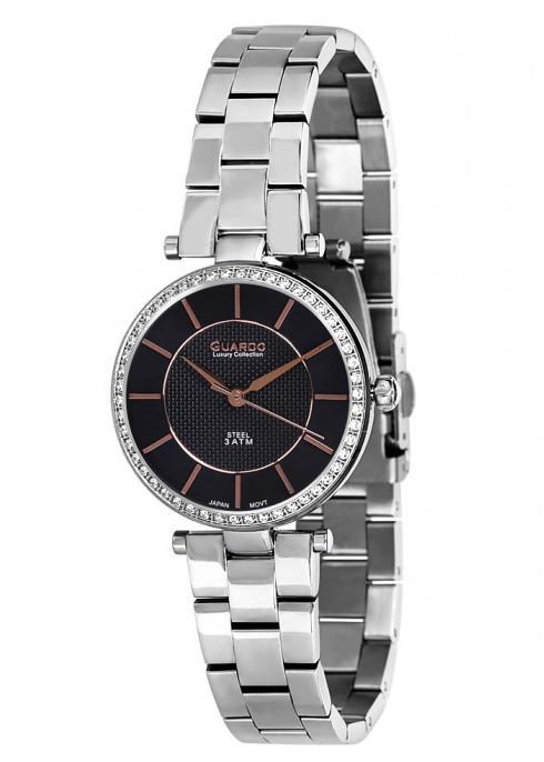 Жіночі наручні годинники Guardo S01632(m) SBl