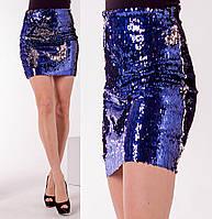 Женская юбка из двухсторонней пайетки в расцветках 54169