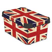 Декоративная коробка для хранения Британский прапор CURVER 213239