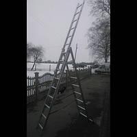 Лестница стремянка алюминиевая HIGHER. 3x9. (РВ-710 см.) Польша