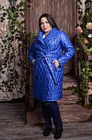 Женское плащевое пальто большого размера со стежкой 2025591