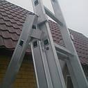 Лестница стремянка алюминиевая 3x9 DRABEST , фото 5