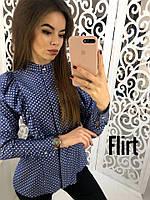 Коттоновая женская рубашка с оборками 36BL106