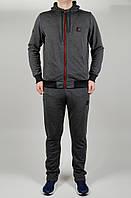 Мужской спортивный костюм Jordan Батал 4645 Чёрный