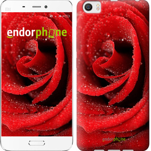 "Чехол на Xiaomi Mi5 Красная роза ""529c-180-571"""
