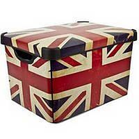 Декоративная коробка для хранения Британский прапор CURVER 197126