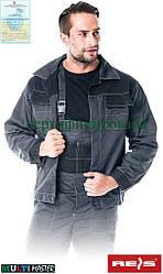 Куртка рабочая мужская серая форма REIS Польша (одежда рабочая униформа) MMB SB