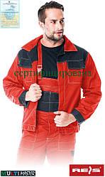 Куртка рабочая мужская красня форма REIS Польша (спецодежда рабочая форма)  MMB CB