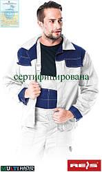 Куртка рабочая мужская белая форма REIS Польша (рабочая форма спецодежда) MMB WN