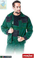 Куртка рабочая мужская зеленая форма REIS Польша (рабочая спецодежда униформа) MMB ZB