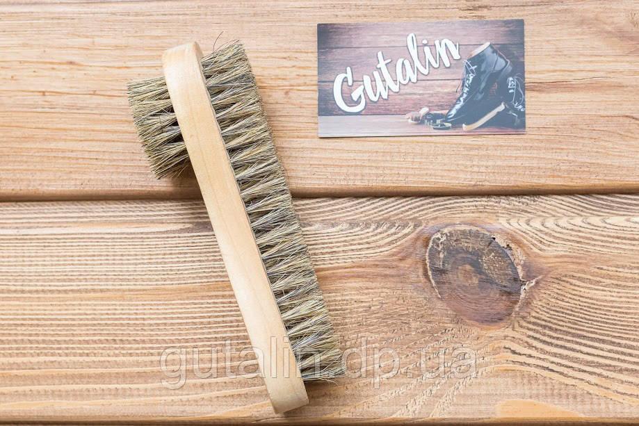 Щетка двухсторонняя из натурального ворса art. 9 для нанесения крема и полировки обуви