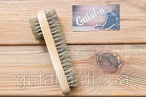 Двостороння щітка з натурального ворсу art. 9 для нанесення крему і полірування взуття
