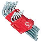Набір Г-подібних ключів TORX з отвором Cr-V INTERTOOL HT-0607