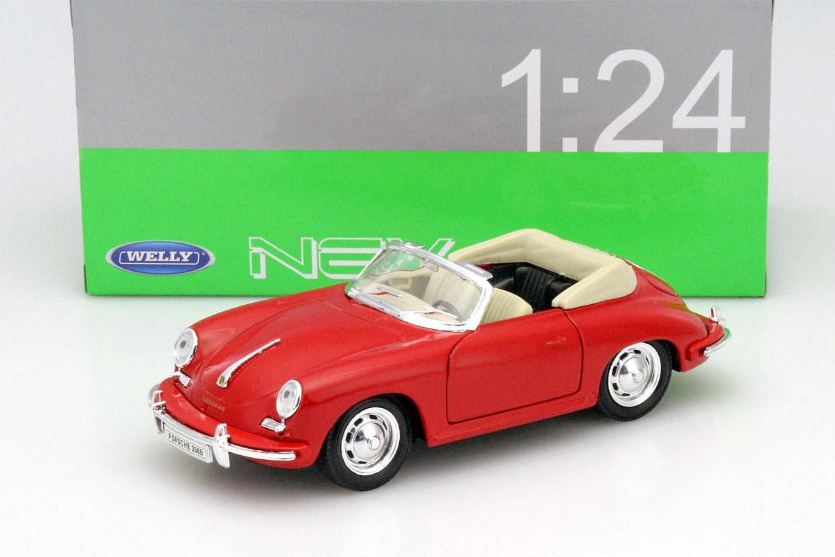 Автомодель Porsche 356b Year 1958 Red 1 24 Welly 29390