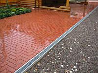 Тротуарная плитка Кирпич 4 см красный, ТМ Игуана