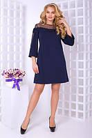 Платье-трапеция в больших размерах с сеткой 10BR590