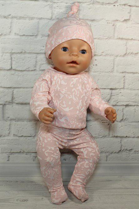 Костюм тройка нежно-розовый для куклы Baby Born