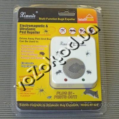 Электромагнитный и ультразвуковой отпугиватель тараканов, насекомых, грызунов Ximeite Pest Repeller MT-626