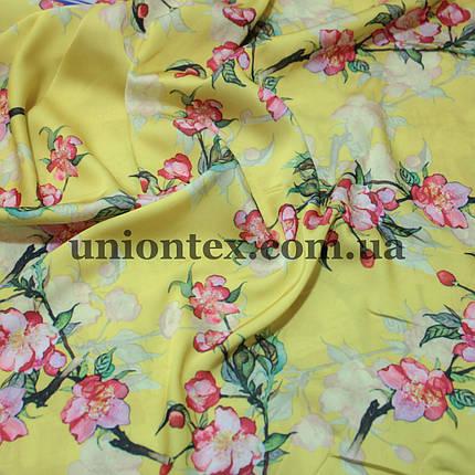Ткань шелк-армани принт цветы, фото 2