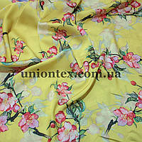 Ткань шелк-армани принт цветы