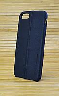 Чехол кожаный для Айфон 7 USAMS-JOE чёрный